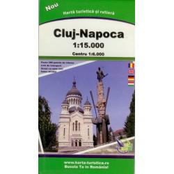 Harta turistică și rutieră Cluj-Napoca