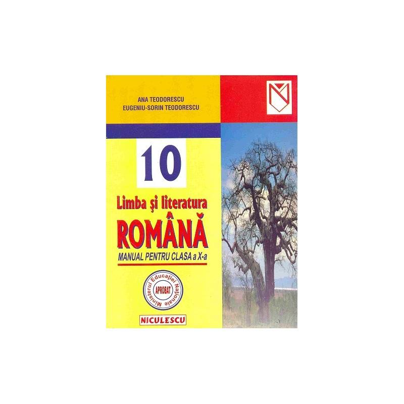 Limba și literatura română. Manual pentru clasa a X-a