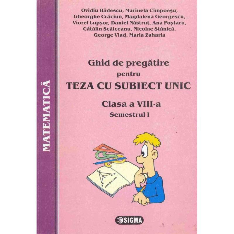 Matematica - clasa a VIII-a - semestrul I